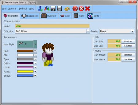 Новый редактор персонажа Terraria - TPE